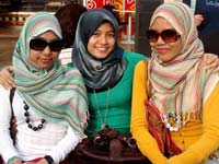 دختران مسلمان مالزی