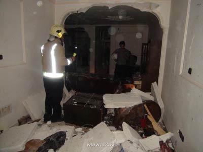 انفجار خانهای بر اثر نشت گاز  تصاویر