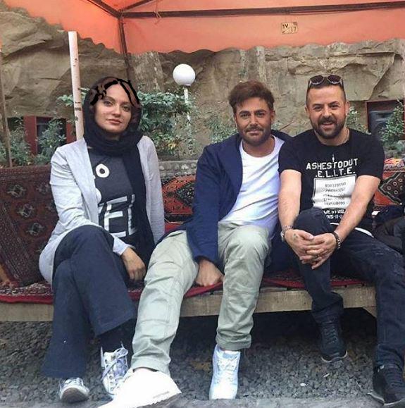 مهناز افشار و محمدرضا گلزار در پشت صحنه سریالی جدید!+عکس