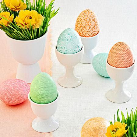 تخم مرغ تزیین شده نوروز با کاغذ و پارچه +تصاویر