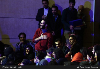 رونمایی از فرزند مهران مدیری در جشنواره فیلم فجر +عکس