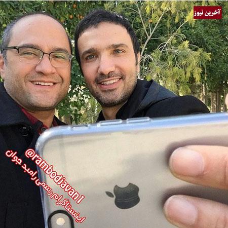 سلفیگیری محمدرضا فروتن و رامبد جوان از یکدیگر! +عکس